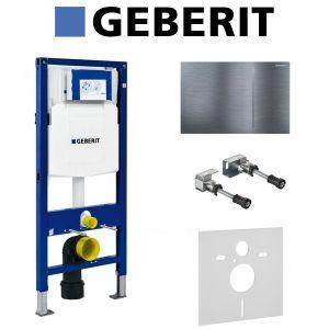 Инсталляция Geberit Duofix (3-в-1) в комплекте с клавишей Sigma 70, нержавеющая сталь