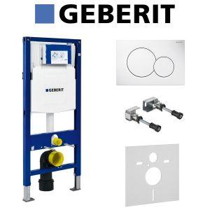 Инсталляция Geberit Duofix (3-в-1) в комплекте с клавишей Sigma 01, белая