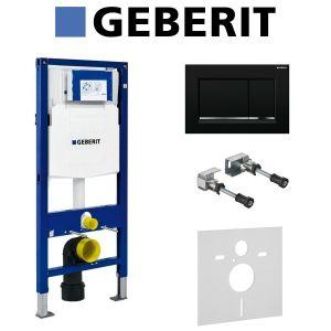 Инсталляция Geberit Duofix (3-в-1) в комплекте с клавишей Sigma 30, черная матовая