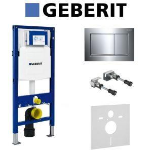 Инсталляция Geberit Duofix (3-в-1) в комплекте с клавишей Sigma 30, хром