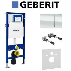 Инсталляция Geberit Duofix (3-в-1) в комплекте с клавишей Sigma 70, белый/алюминий