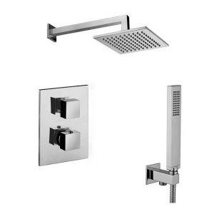 Набор встраиваемой душевойя системы Paffon KIT LEQ 518 (термостат,  ручным душ,  лейка)  хром