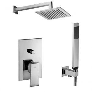 Душевая система Paffoni Shower скрытого монтажа со смесителем с верхним душем 200x200 мм (цвет - хром)