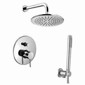 Набор встраиваемой душевойя системы Paffoni KIT LIG 015 CR (смеситель,  ручным душ,  лейка) хром