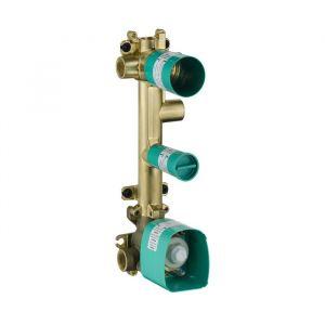 Скрытая часть для термостата AXOR Citterio E 38 x 12 c 3 розетками, для 3 потребителей