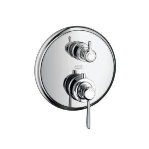 Термостат для душа с запорным/переключающим вентилем Axor Montreux (цвет - хром)