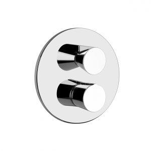Встраиваемая и внешняя части термостатического смесителя для душа Gessi Cono shower (цвет - хром)