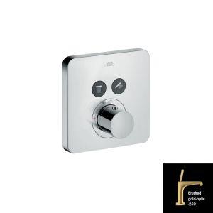 Термостатический смеситель для душа Axor ShowerSelect (цвет - шлифованное золото)
