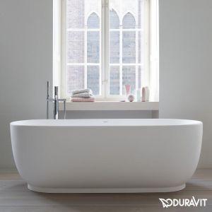 Ванна акриловая Duravit Luv 180 х 85 см, с бесшовной панелью, ножками и переливом