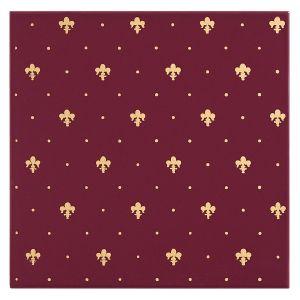 Керамическая плитка для стен Petracer's Elegance Gold, Giglio Oro su Bordeaux