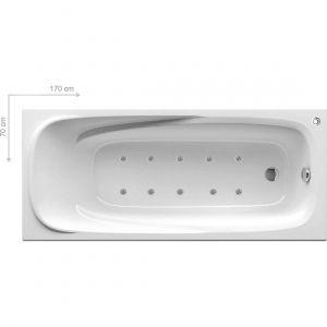 Ванна акриловая гидромассажная Ravak Vanda II 170 х 70 см