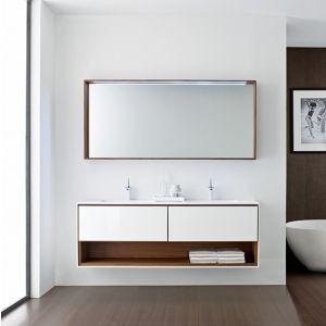 Компелкт мебели дя ванной Oasis FRAME белый/дерево 175х51х195