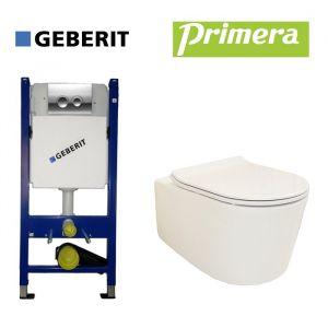Инсталляция Geberit Duofix (4-в-1) комплект 458.121.21.1 с унитазом Primera Grand Clean Pro с крышкой SoftClose