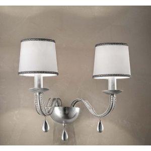 Бра Masiero Maria Teresa, цвет покрытия - Shiny White / Silver