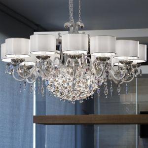 Люстра Masiero Rosemery, цвет отделки - Shiny White / Silver