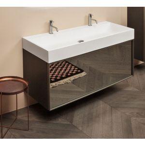 Комплект мебели для ванной комнаты Antonio Lupi Gesto bronze or fumé mirrored glass.