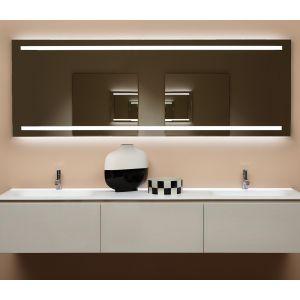 Зеркало с блестящей кромкой Antonio Lupi SPIO с белой светодиодной подсветкой