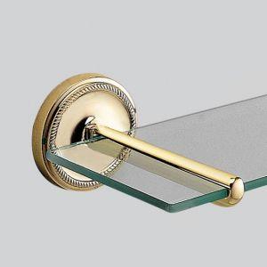 Полка со стеклом 580 мм Devon & Devon Antique Georgian (цвет - светлое золото/стекло прозрачное)