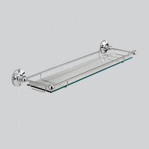 Полка со стеклом 570 мм Devon&Devon Cavendish (цвет - хром/стекло прозрачное)