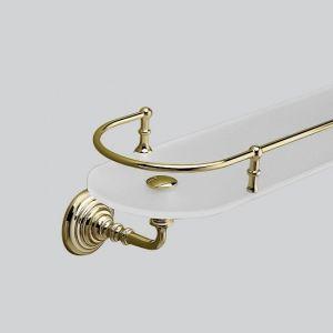 Полка со стеклом 560 мм Devon&Devon Chelsea (цвет - светлое золото/стекло матовое)