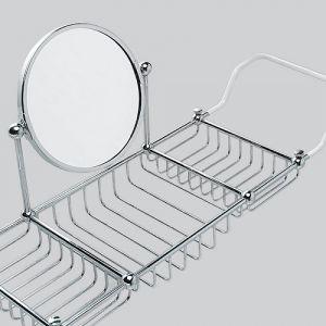 Полка для ванны с двойным зеркалом Devon&Devon First Class (цвет - хром)