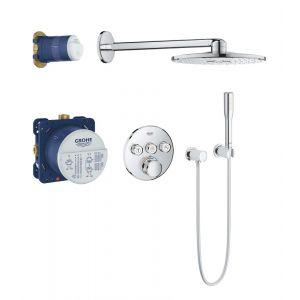 Душевая система скрытого монтажа с термостатом Grohe Grohtherm SmartControl (цвет - хром)