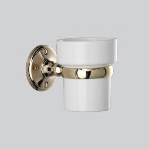 Держатель для зубных щёток с керамическим стаканом Devon&Devon Old Navy (цвет - светлое золото/белый)