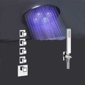 Душевая система скрытого монтажа с термостатом Gessi privat wellness 500 мм потолочный монтаж