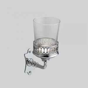 Держатель для зубных щеток со стеклянным стаканом Devon&Devon Mayfair (цвет - хром)