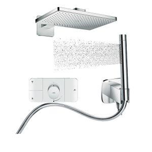 Душевая система скрытого монтажа с термостатом Аxor showersolutions 460 х 300 2jett (наружная и скрытые части)