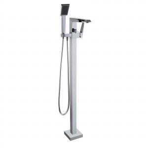 Смеситель отдельностоящий для ванны Volle Orlando (цвет - хром), напольный монтаж, с ручным душем и с переключателем на душ