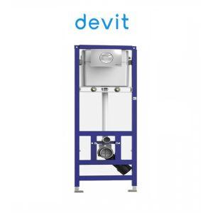 Инсталляция Devit (4-в-1) комплект 90.210  (клавиша хром)