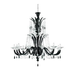 Люстра De Majo (цвет стекла -  nero, cristallo/чёрный, прозрачный)