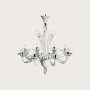 Люстра De Majo (цвет стекла - бело-молочный + прозрачный )