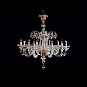 Люстра De Majo (цвет стекла - прозрачный c золотым декором )