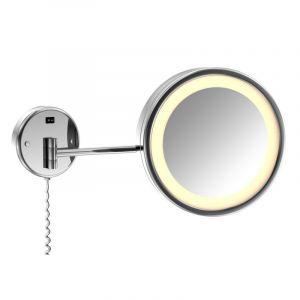 Косметическое зеркало с LED-подсветкой и выключателем 230V Steinberg 650, хром