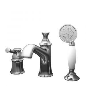 Смеситель на борт ванны Imprese Podzima (цвет - ledove), с ручным душем