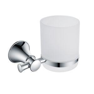 Стакан для зубных щёток Imprese Podzima Ledove (цвет - хром/стекло матовое)