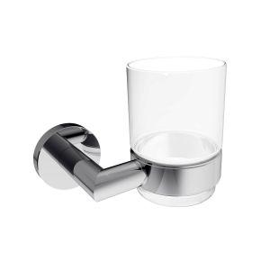 Стакан для зубних щёток Imprese Hranice (цвет - хром/стеко прозрчное)