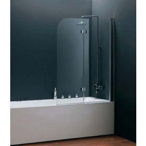 """Шторка для ванной Devit Quest 1150 х 1400 (профиль хром, стекло """"Шиншилла"""")"""