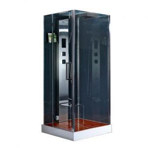 Паровой бокс Devit Gredos 900 × 900 х h2150 мм (профиль хром, стекло прозрачное) левое открывание