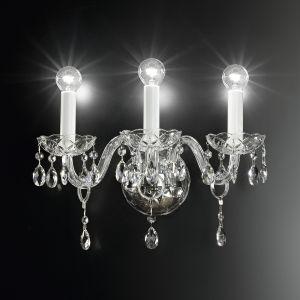 Настенный светильник с рассеяным светом и подвесками Swarovski Elements Italamp