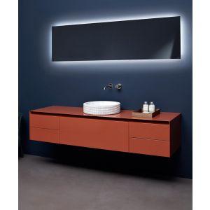 Зеркало Antonio Lupi с блестящей кромкой с белой светодиодной подстветкой, с рамой, 216х142 см