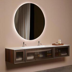 Зеркало Antonio Lupi с блестящей кромкой, толщиной 5 мм, с белой светодиодной подсветкой, на раме