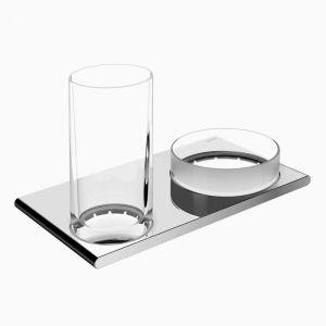 Двойной держатель со стаканом и чашей для мелочей Keuco Edition 400