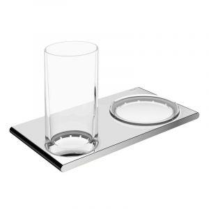 Двойной держатель со стаканом и мыльницей Keuco Edition 400