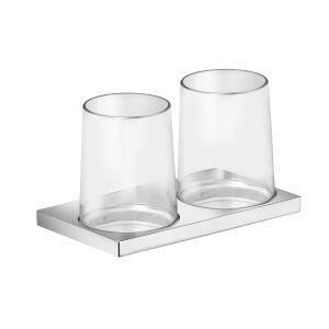 Держатель на два стакана в комплекте с хрустальными стаканами Keuco Edition 11