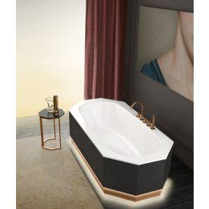 Отдельностоящая ванна Milldue Crystal с подсветкой, глянцевая панель