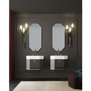 Настенное зеркало Milldue Crystal 49см из светодиодной  подсветкой