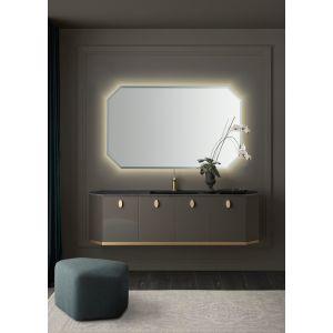 Настенное зеркало Milldue Crystal 108см с LED подсветкой